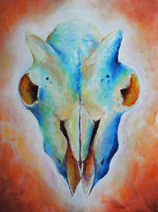 """""""Goat Skull"""" Print"""