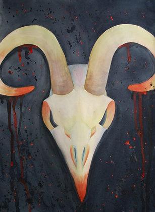 """3-Pointed Creature"" Original Painting"