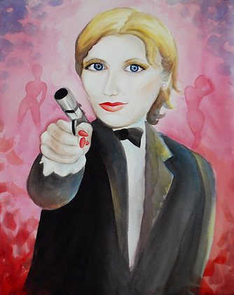 """Agent Moneypenny"" Original Painting"
