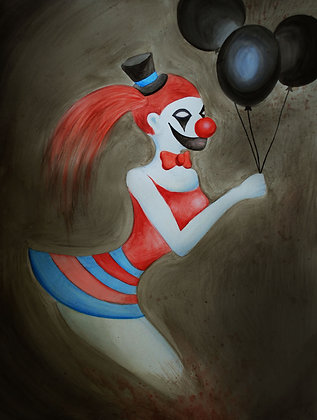 """Sexy Dead Clown"" Original Painting"