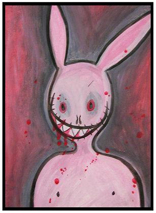 """Bunny Psycho"" Original Painting"