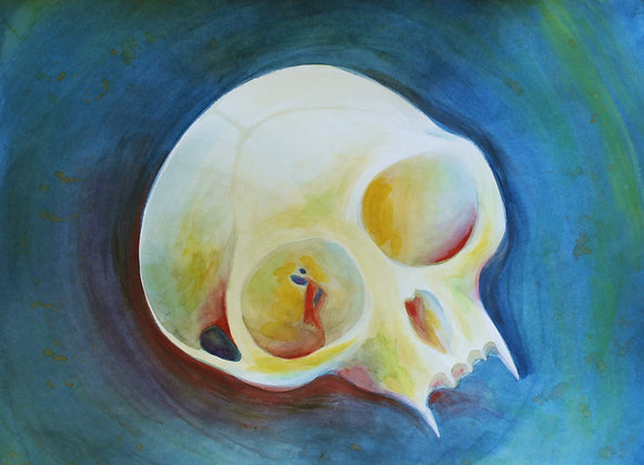 """Monkey Skull"" Original Painting"