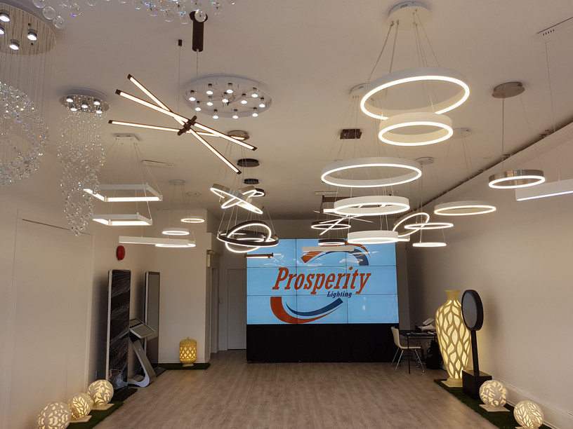 Prosperity Lighting Showroom Interior