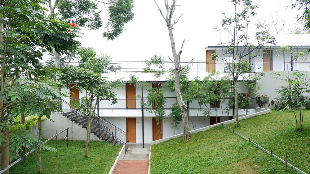 Hotel Blackbird berada di Lahan Berkontur. (Picture : K+AD Firma Arsitektur)