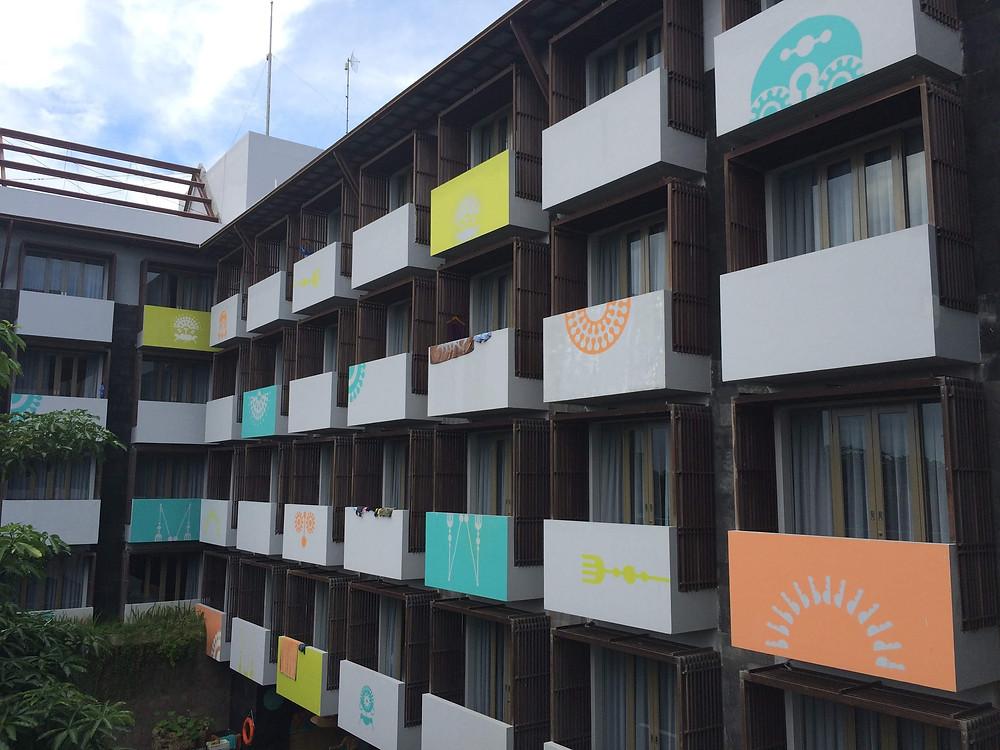 Fasad Hotel Tijili Seminyak Bali (Pict : K+AD Firma Arsitektur)