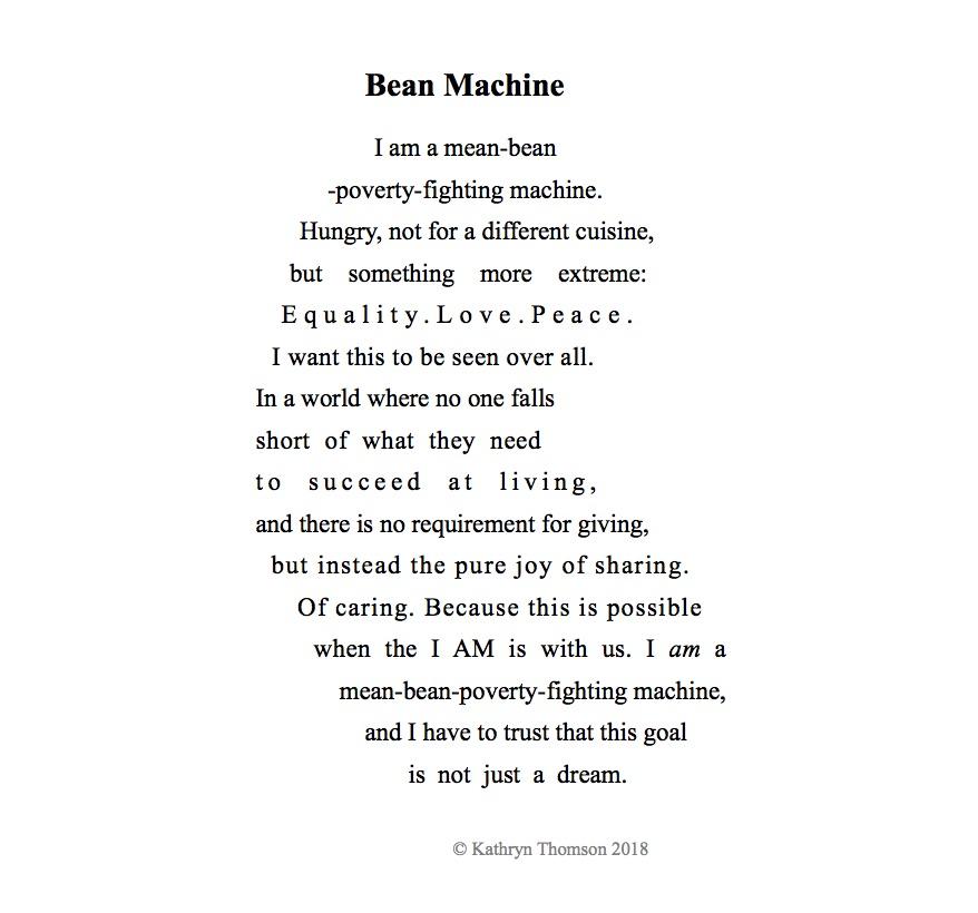 Bean Poem