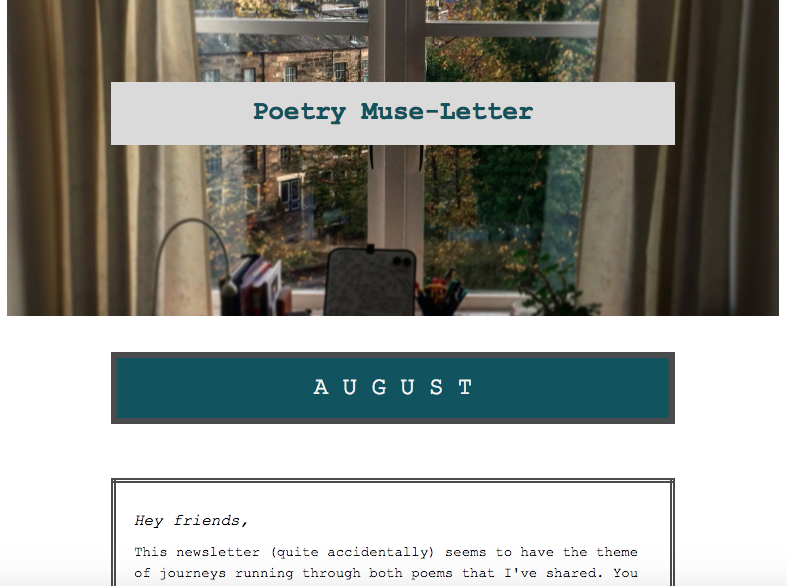 Poetry Muse-Letter