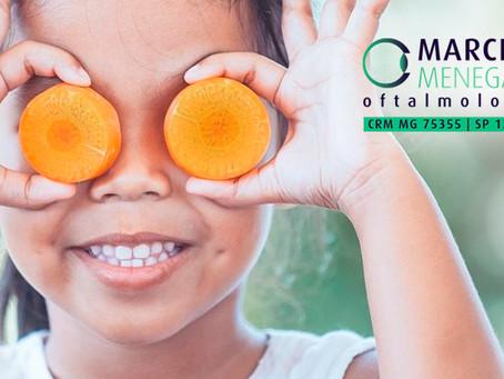 Saiba como a alimentação influencia na saúde dos olhos