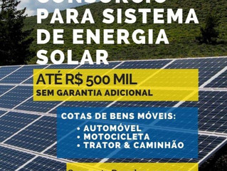 NOVIDADE: Consórcio para sistema de energia solar