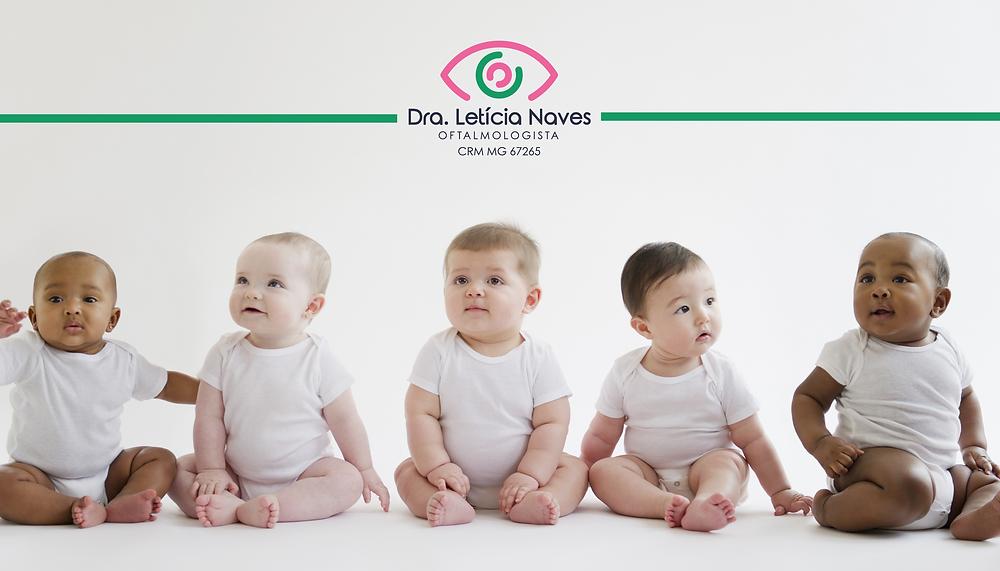saúde ocular dos bebês