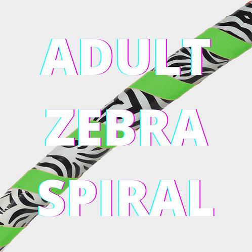 Adult Zebra Spiral Dance Hoops
