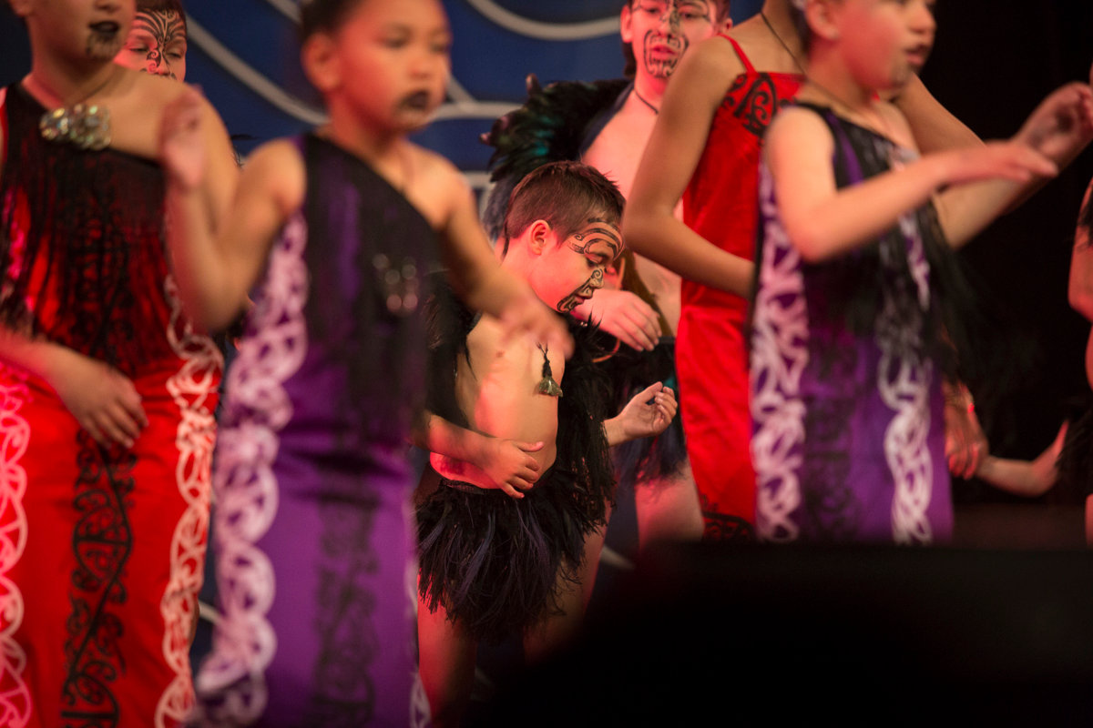 Young Maori boy kapa haka