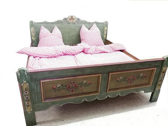 Anno 1800, altgrün, Doppelbett, L 200 cm x B 180 cm