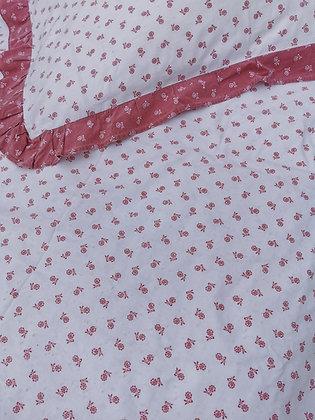 Voglauer Bettwäsche, weiß - rosa Blumen