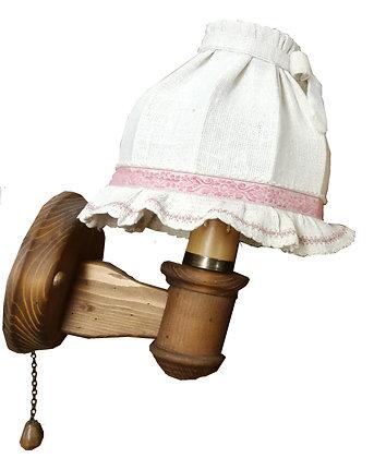 Anno 1600, Wandlampen-Set, Schirm weiß - rosa