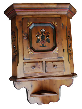Anno 1700, braun antik, Eckhängeschrank