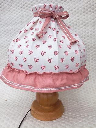 Anno 1900, Tischlampe, weiß-rosa