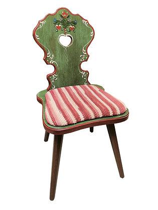 Anno 1800, altgrün, Stuhl, Polster Streifen pink