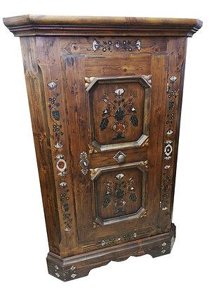 Anno 1700, braun antik, Eckschrank