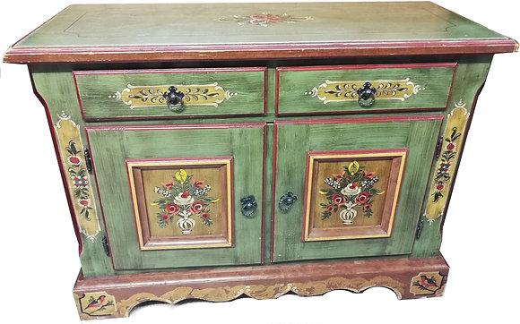 Anno 1800, altgrün, Kommode, 2 Türen