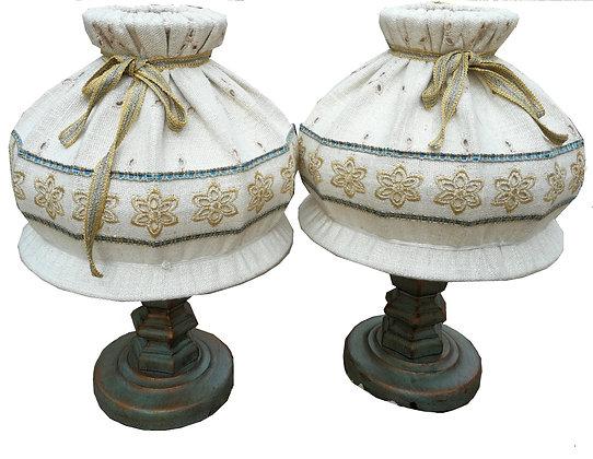 Anno 1700, altblau, Nachttischlampen