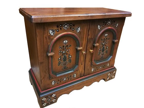 Anno 1700, braun antik, Kommode, klein