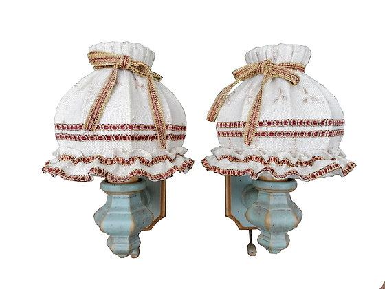 Anno 1700, altblau-rot, Lampen, Wandlampen-Set