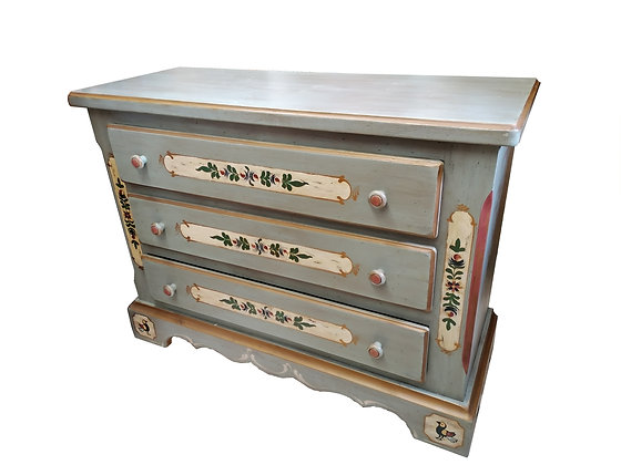 Anno 1700, altblau, Kommode,3 Schubladen