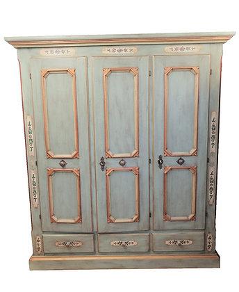 Anno 1700, altblau, Schrank, 3 Türen