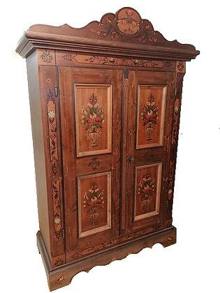 Anno 1800, braun antik, Schrank, 2 Türen