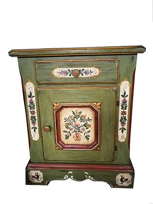 Anno 1700, altgrün, Kommode, 1 Tür