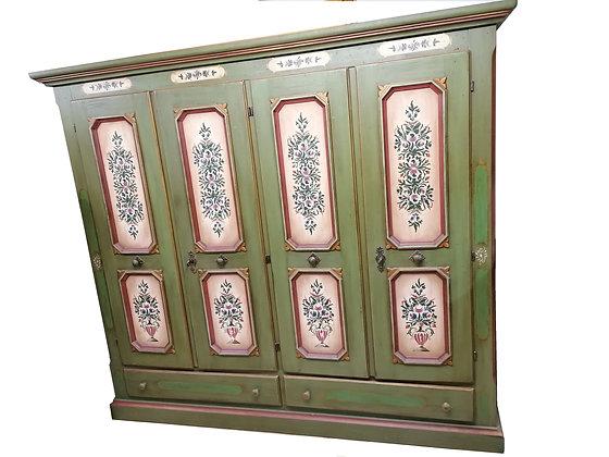 Anno 1700, altgrün, Schrank, 4 Türen