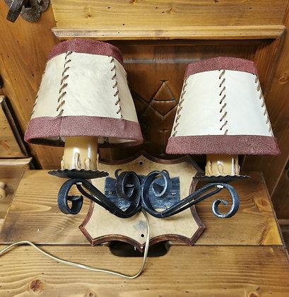 Wandlampe beige - rot