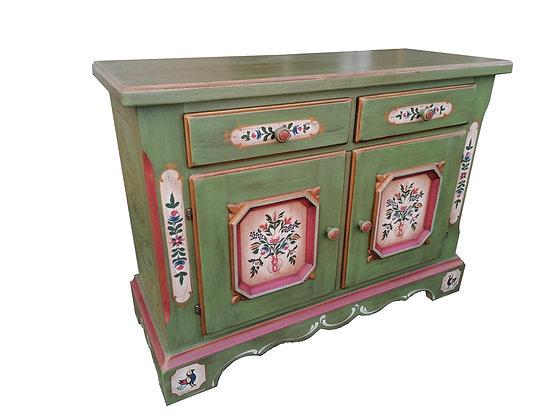 Anno 1700, altgrün, 2 Türen, 2 Schubladen