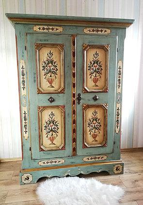 Anno 1700, altblau, Schrank, 2 Türen
