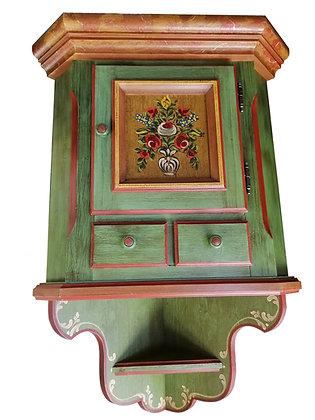 Anno 1800, altgrün, Eckhängeschrank