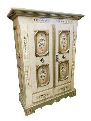 Anno 1700, altweiß, Bauernschrank, 2 Türen, 2 Schubladen
