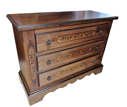 Anno 1800, braun antik, Kommode, 3 Schubladen