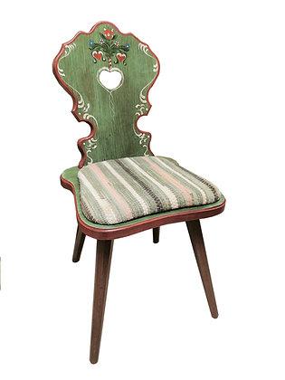 Anno 1800, altgrün, Stuhl, Polster Streifen grün