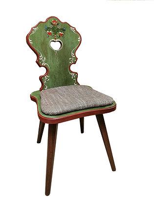 Anno 1800, altgrün, Stuhl, Polster braun 2