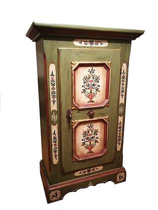 Anno 1700, altgrün, Schrank, 1 Tür