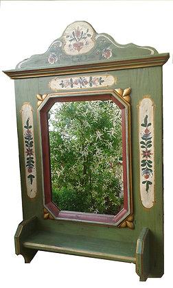 Anno 1700, altgrün, Spiegel, Höhe 92 cm