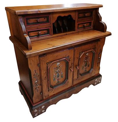 Anno 1700, braun antik, Sekretär mit Aufsatz