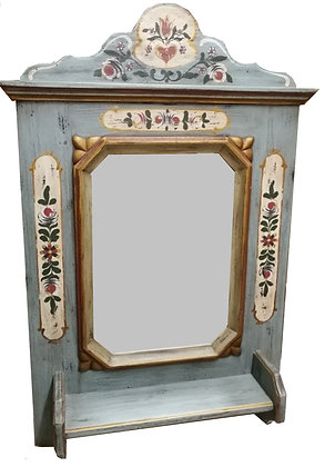 Anno 1700, altblau, Spiegel, Höhe 92 cm