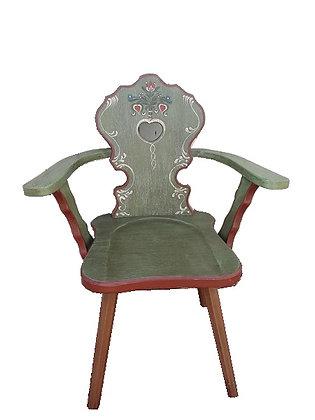 Anno 1800, altgrün, Stuhl, mit Lehne