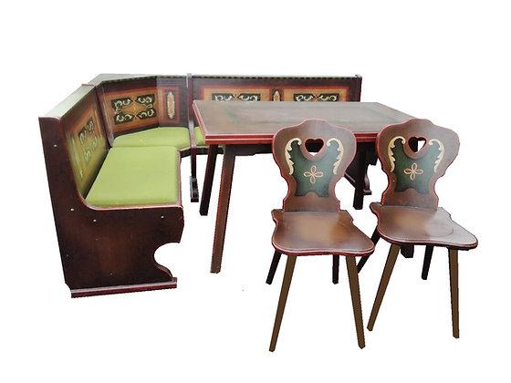 Eckbank im Landhausstil inkl. Tisch und 2 Stühle