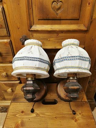 Wandlampen-Set, Anno 1700, braun antik