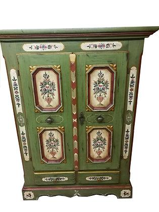 Anno 1700, altgrün,Bauernschrank, 2 Türen