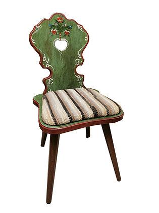 Anno 1800, altbraun, Stuhl, Polster Streifen grün