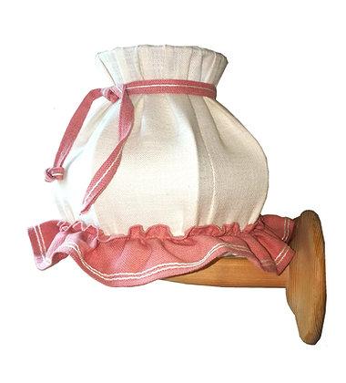 Wandlampe, hell, weiß Rand rosa